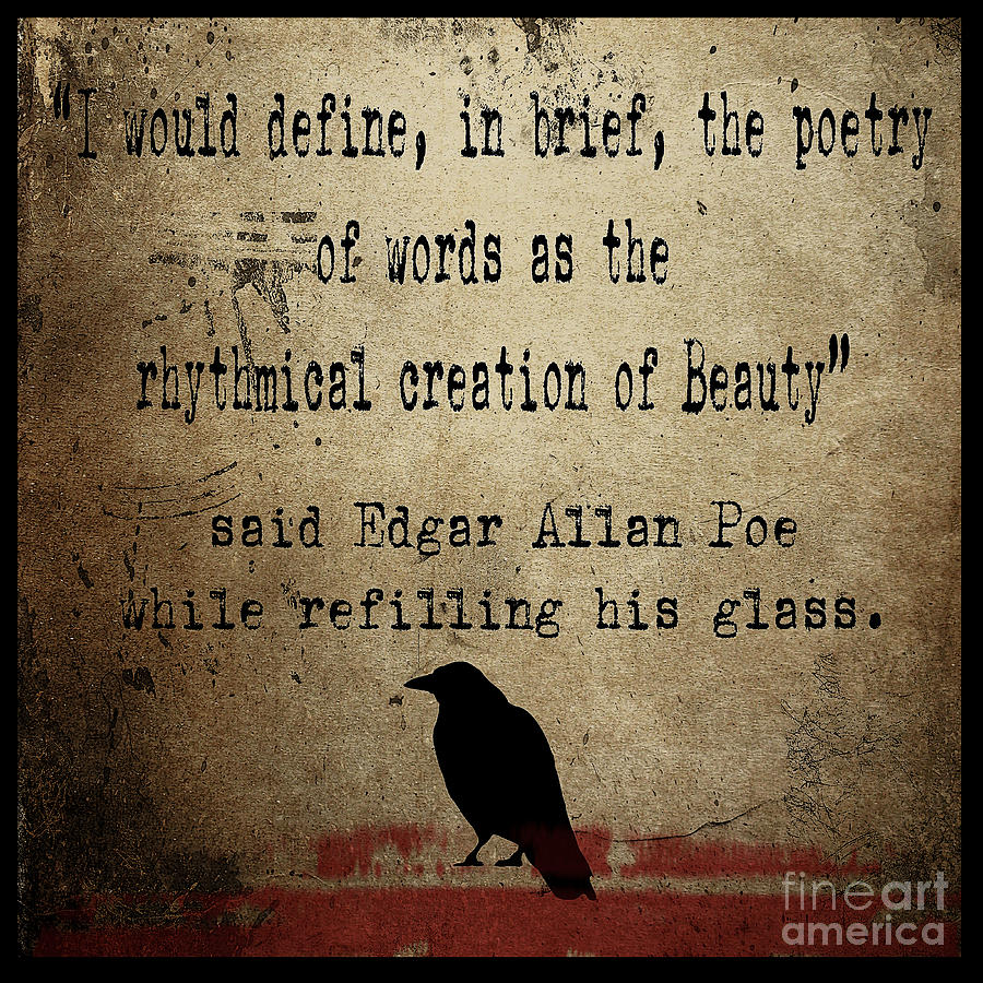 Said Edgar Allan Poe Painting  - Said Edgar Allan Poe Fine Art Print