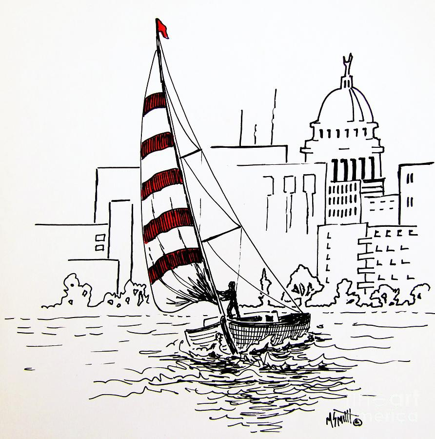 Sail Away Drawing  - Sail Away Fine Art Print