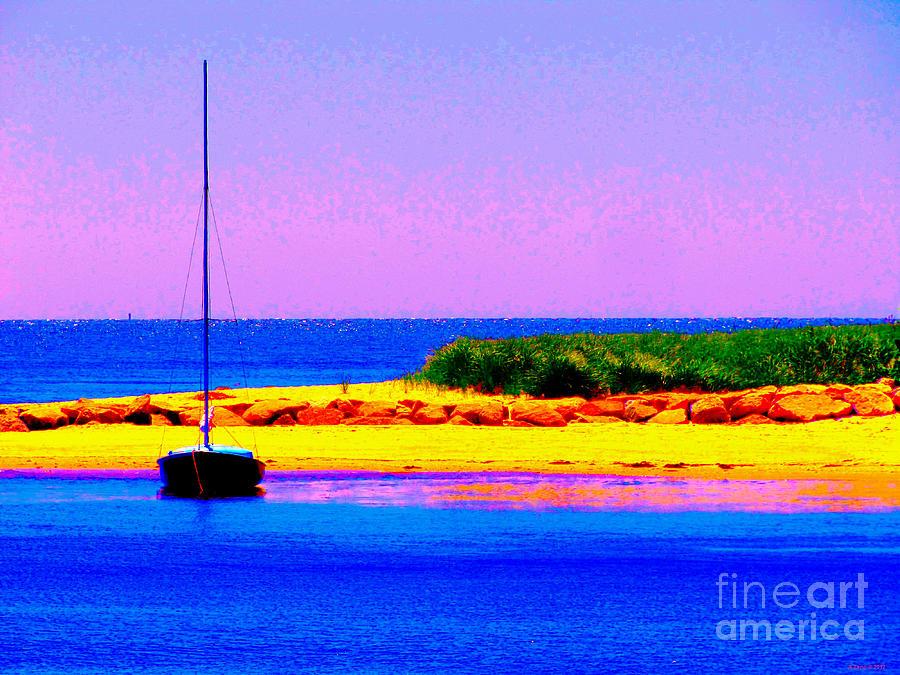 Sail Boat At Twilight Photograph