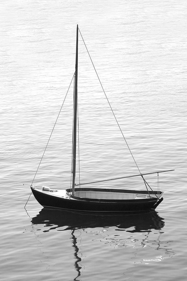 Sail Boat In Maine Photograph