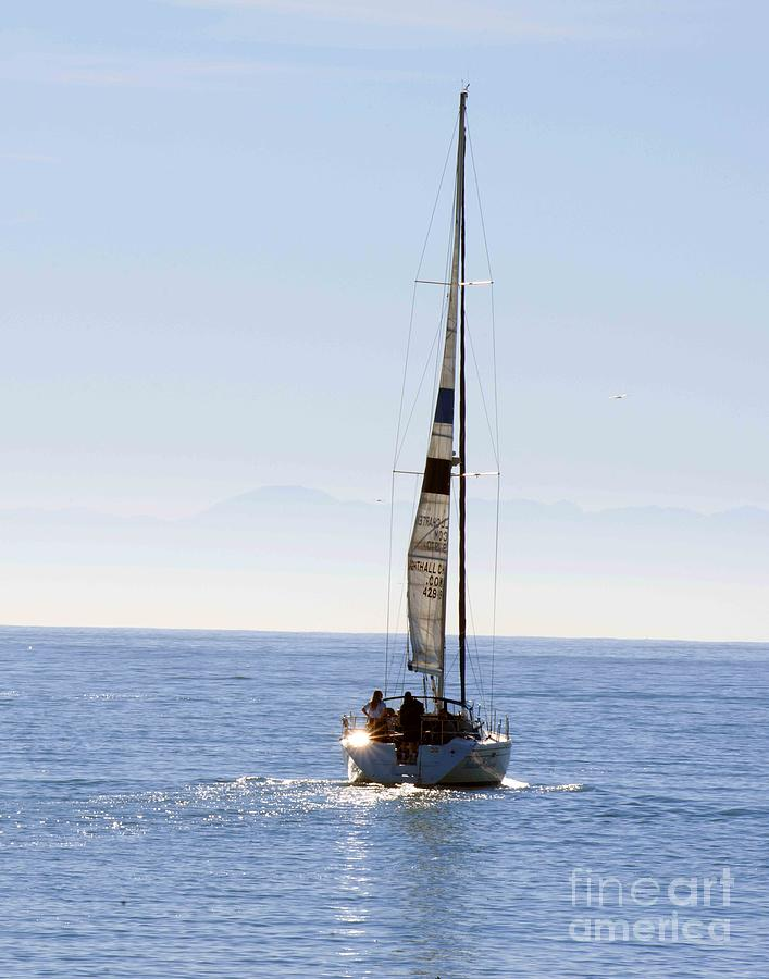 Sailboat Photograph - Sail Into The Future by Artist and Photographer Laura Wrede