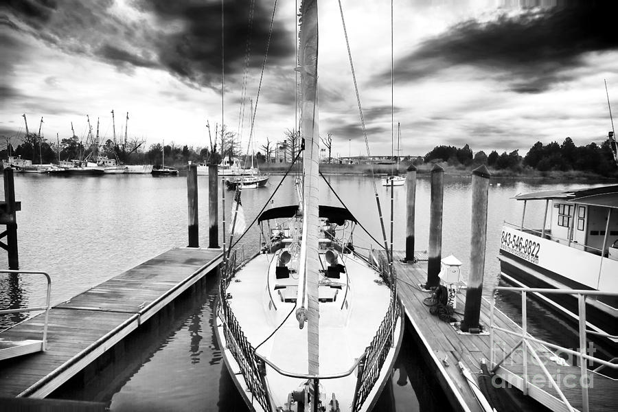 Sailboat Docked Photograph  - Sailboat Docked Fine Art Print