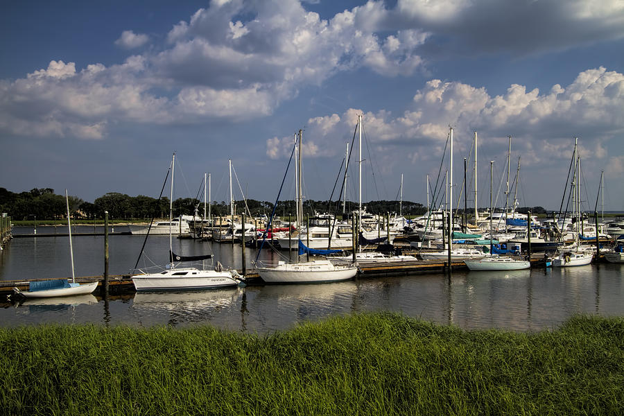 St Simon's Photograph - Sailboat Harbor At St. Simons Island by Kathy ...