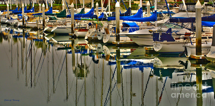 Sailboat Reflections Photograph  - Sailboat Reflections Fine Art Print