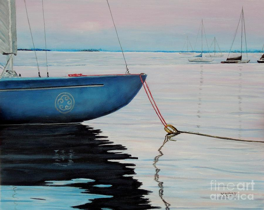 Sailboat Tied Painting  - Sailboat Tied Fine Art Print
