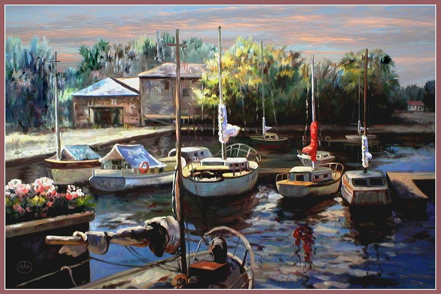 Sailboats At Rest Painting  - Sailboats At Rest Fine Art Print