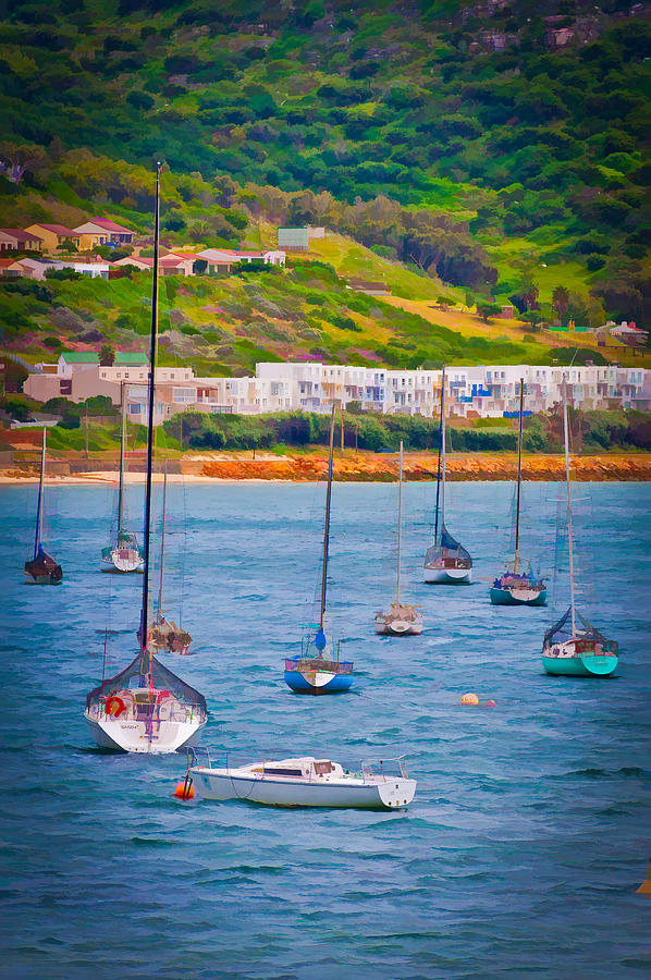 Sailboats At Simons Town Photograph  - Sailboats At Simons Town Fine Art Print