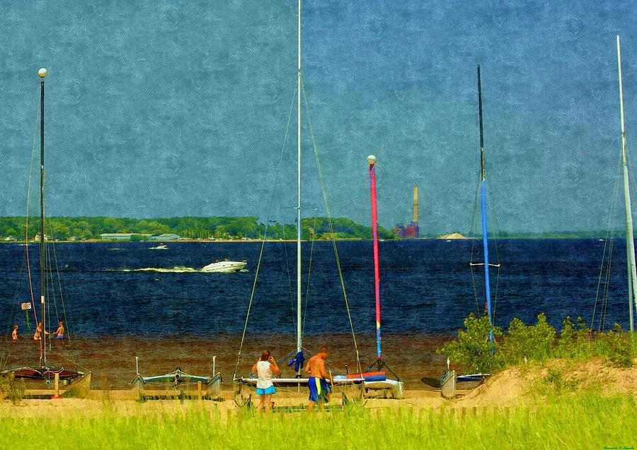Sailboats Beached Painting