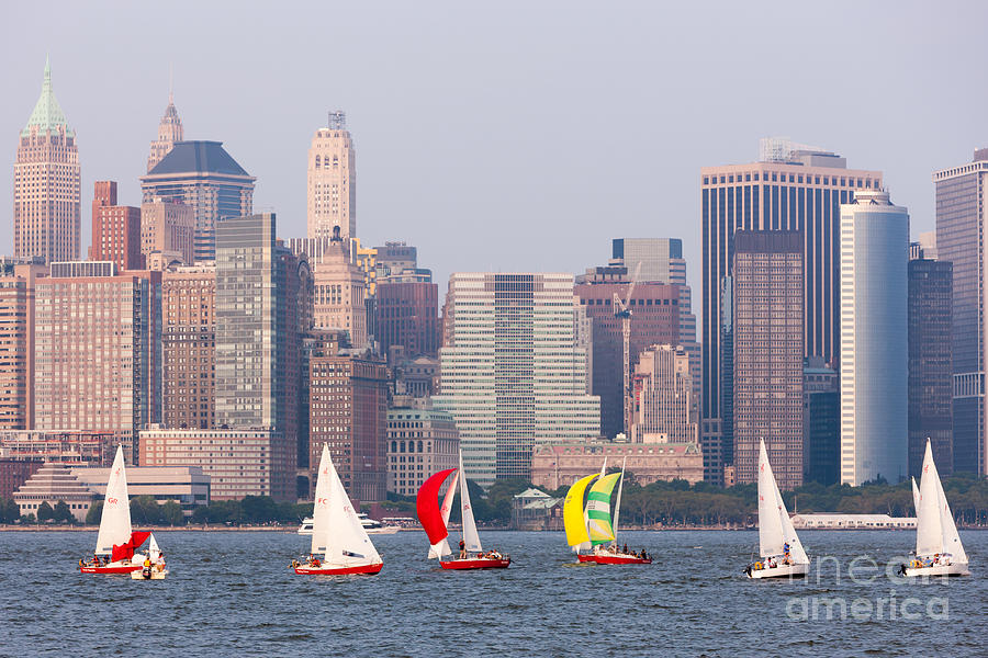 Sailboats On The Hudson I Photograph