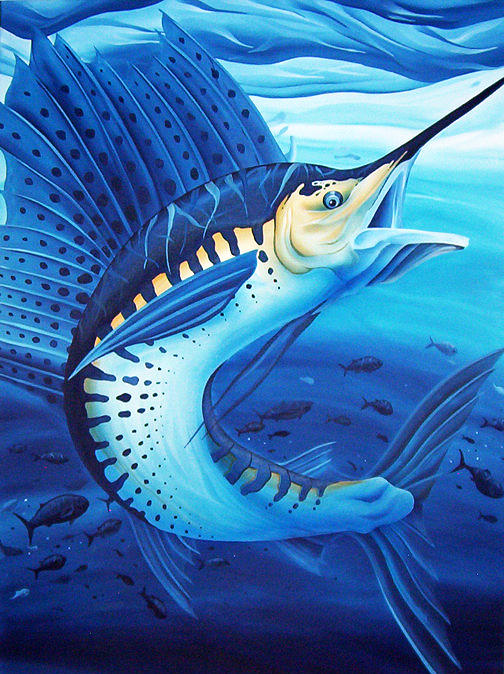 Sailfish Oil Painting