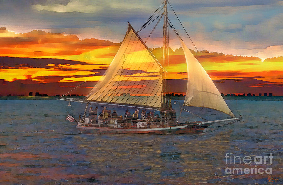 Sailing At Sunset Photograph  - Sailing At Sunset Fine Art Print