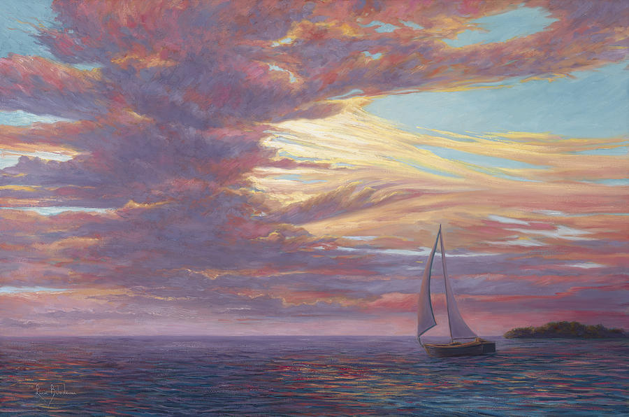 Sailing Away Painting By Lucie Bilodeau