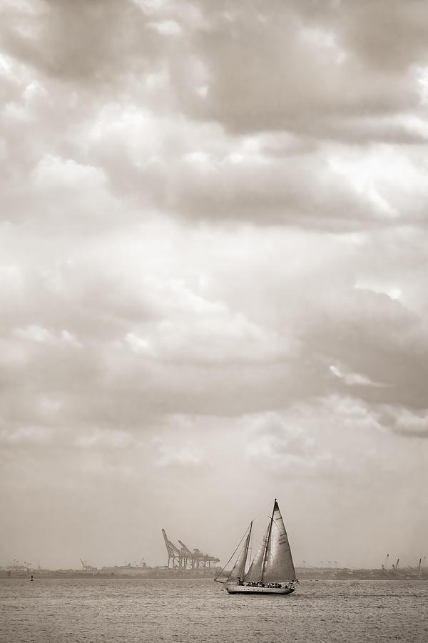Sailing In New York Harbor - Nautical Photograph