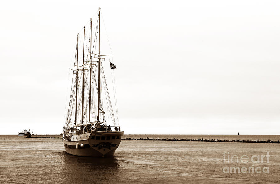 Sailing Lake Michigan Photograph