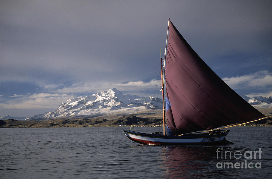 Sailing On Lake Titicaca Photograph  - Sailing On Lake Titicaca Fine Art Print