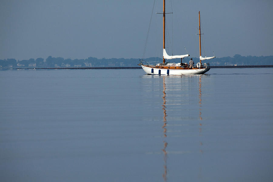 Sailing Reflections Photograph  - Sailing Reflections Fine Art Print