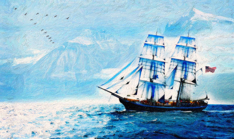 Sailing South 2 Painting  - Sailing South 2 Fine Art Print