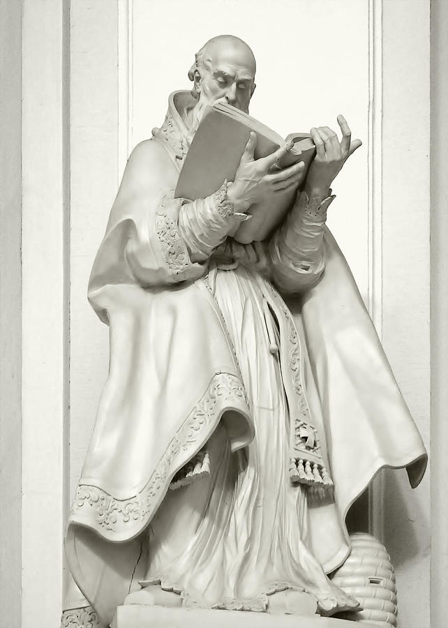 Ambrosius Photograph - Saint Ambrose - Holy Trinity Cathedral Dresden by Christine Till