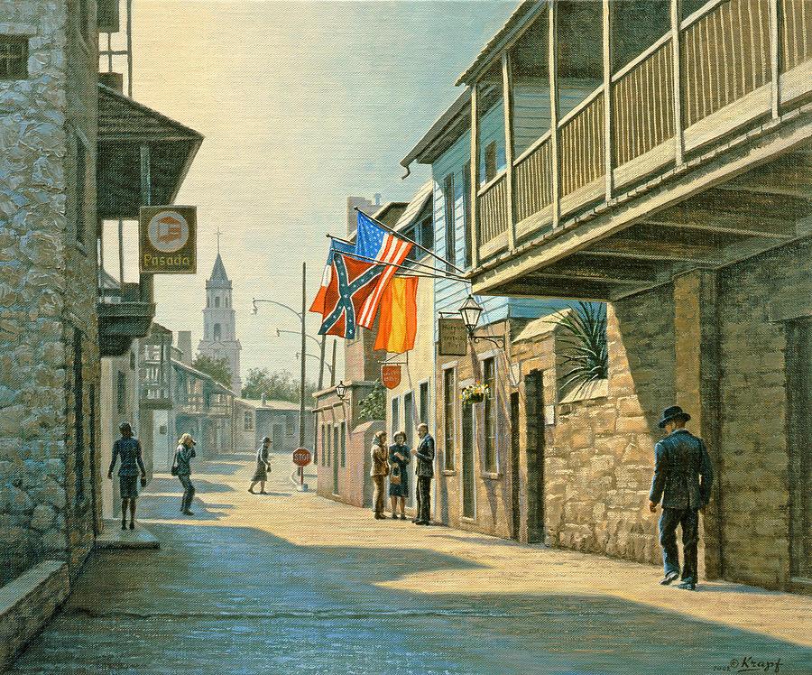 Landscape Painting - Saint Augustine Street   by Paul Krapf