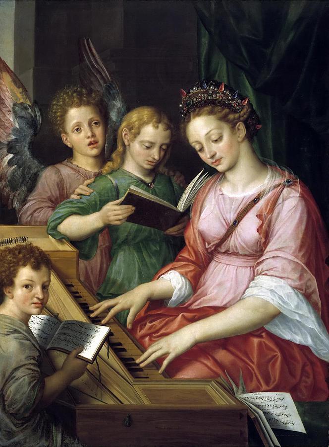 Saint Cecilia Painting By Michiel Coxcie