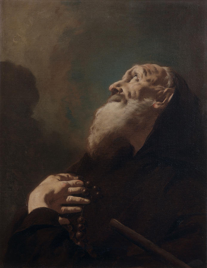 Saint Francis From Paola , By Francesco Painting