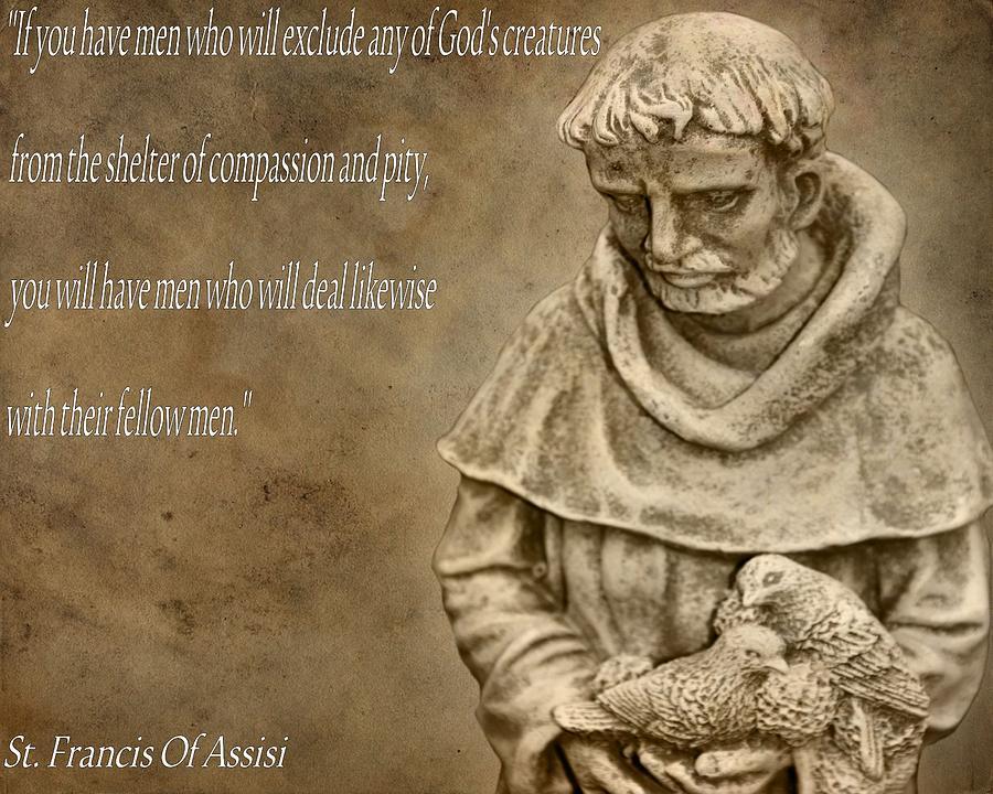 Saint Francis Of Assisi Photograph