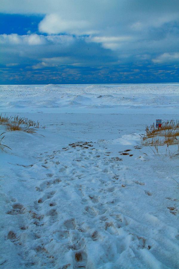 Saint Joseph Michigan Beach In Winter Photograph - Saint Joseph Michigan Beach In Winter by Dan Sproul