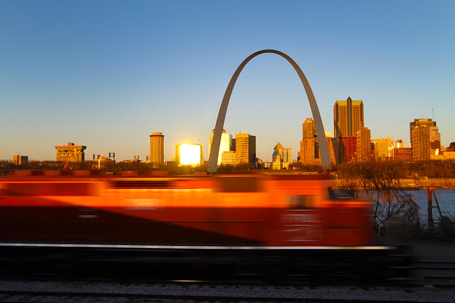 Saint Louis Morning Train Photograph