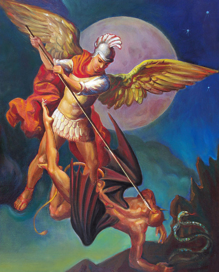 Saint Michael The Archangel Painting  - Saint Michael The Archangel Fine Art Print