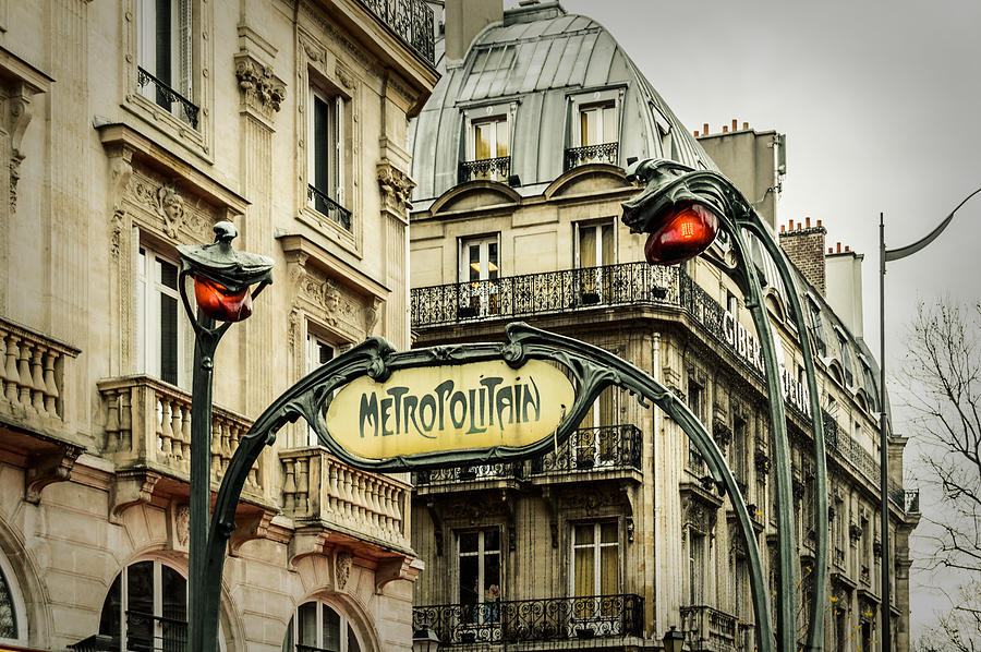 Saint michel metro station photograph by marco oliveira - Saint michel paris metro ...
