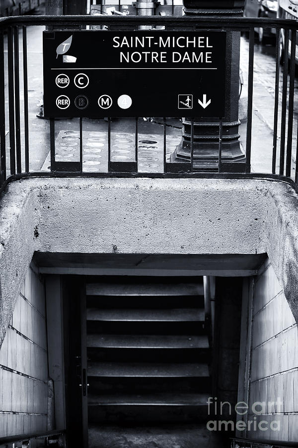 Saint michel metro stop photograph by john rizzuto - Saint michel paris metro ...