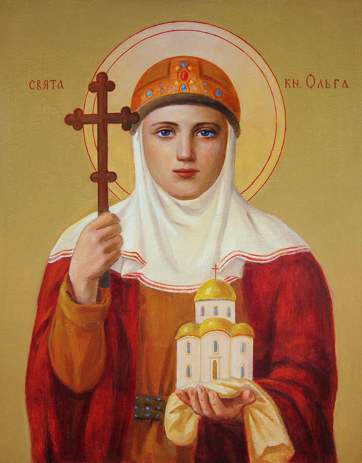 Saint Princess Olga. Ukrainian Art  Painting