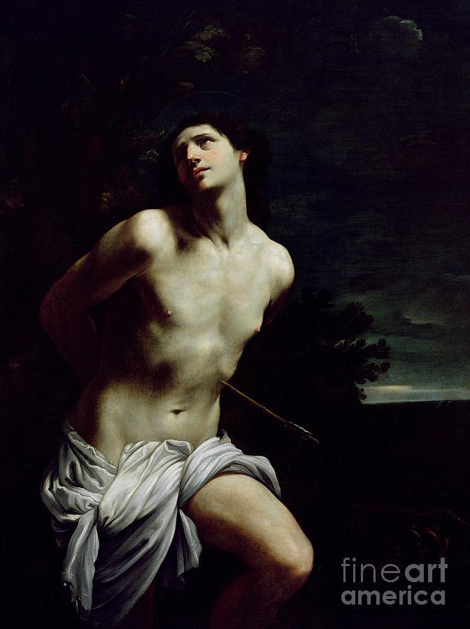 Saint Painting - Saint Sebastian by Guido Reni