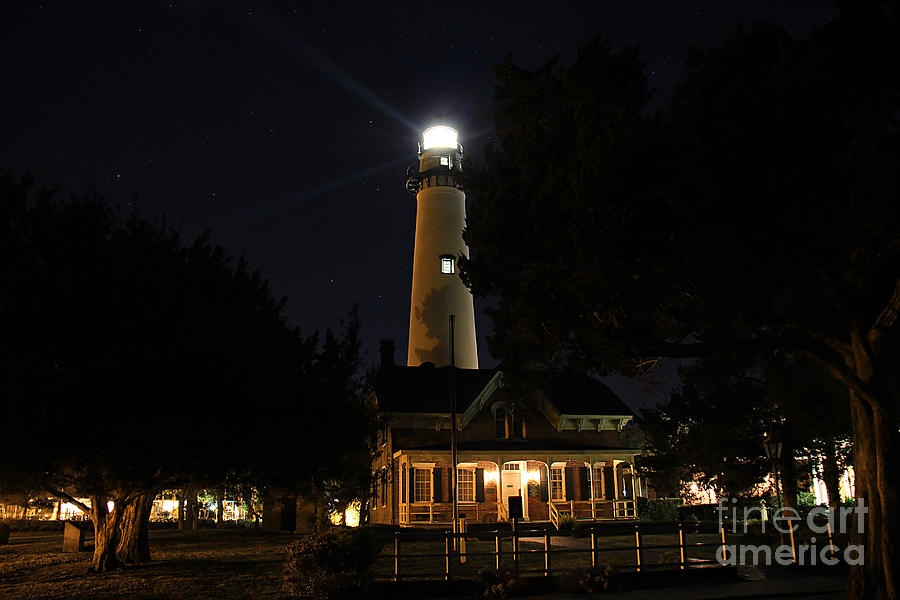 Saint Simons Lighthouse Photograph