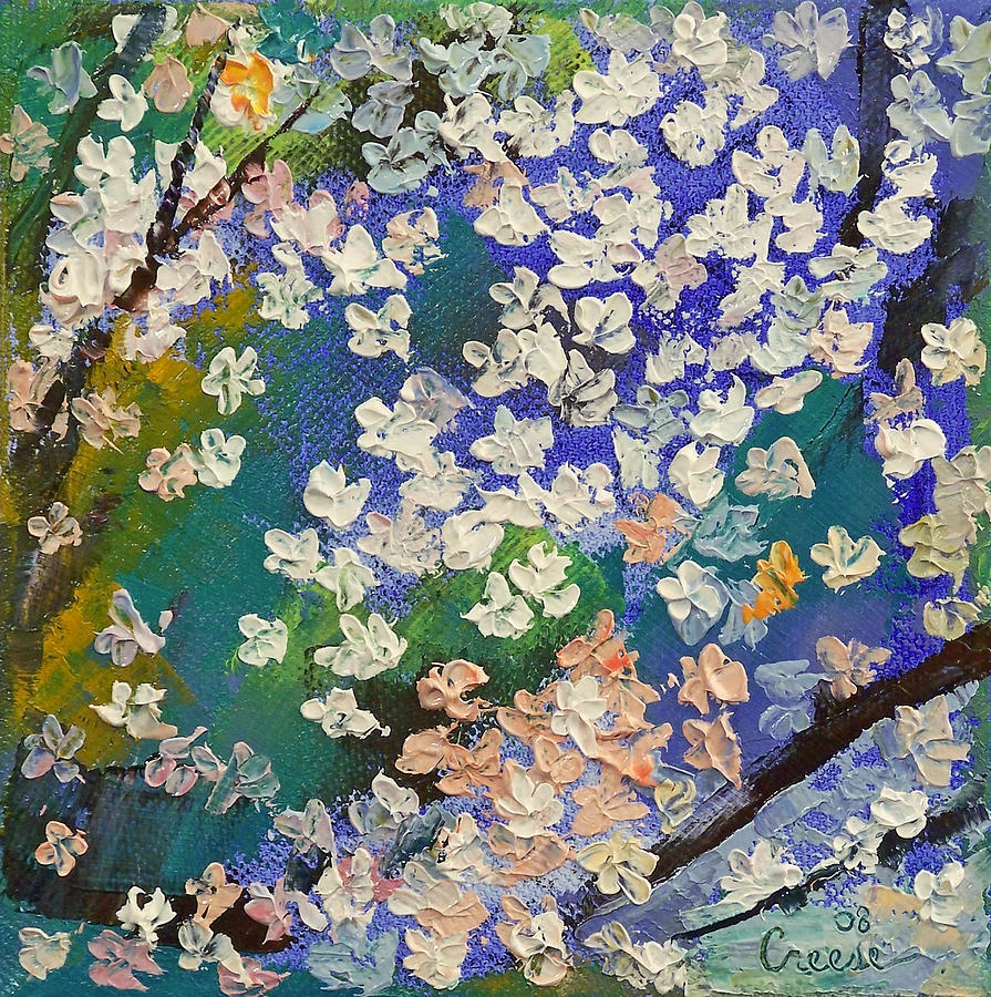 Sakura Oil Painting Painting  - Sakura Oil Painting Fine Art Print