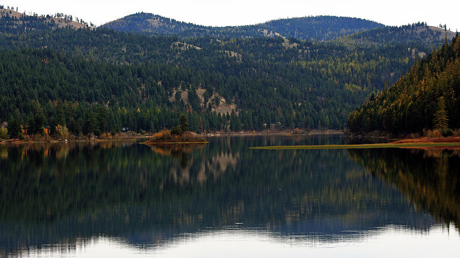 In Montana  Photograph - Salam  Lake by Larry Stolle