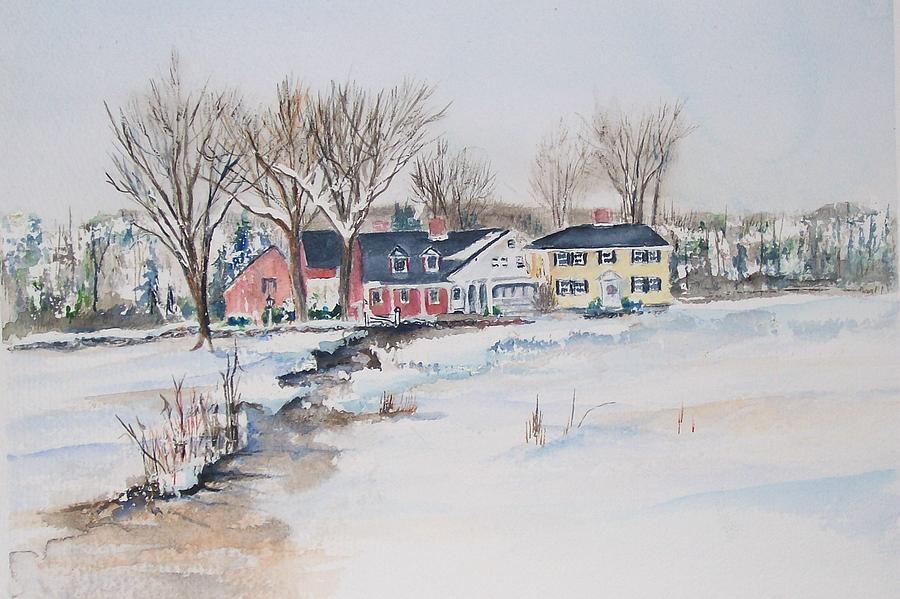 Salem Cross Inn Painting - Salem Cross Inn by Michael McGrath