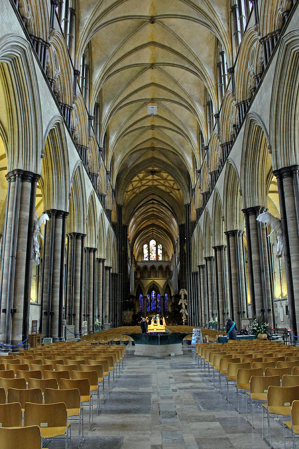 Salisbury Cathedral Nave Photograph by Tony Murtagh