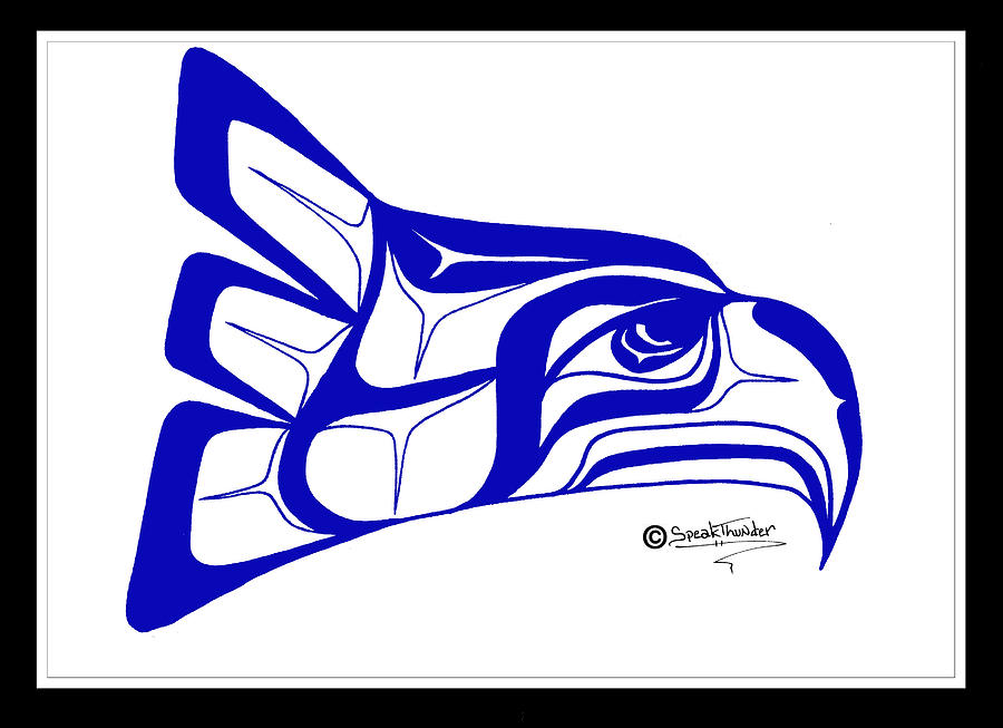 seahawks symbol how to draw