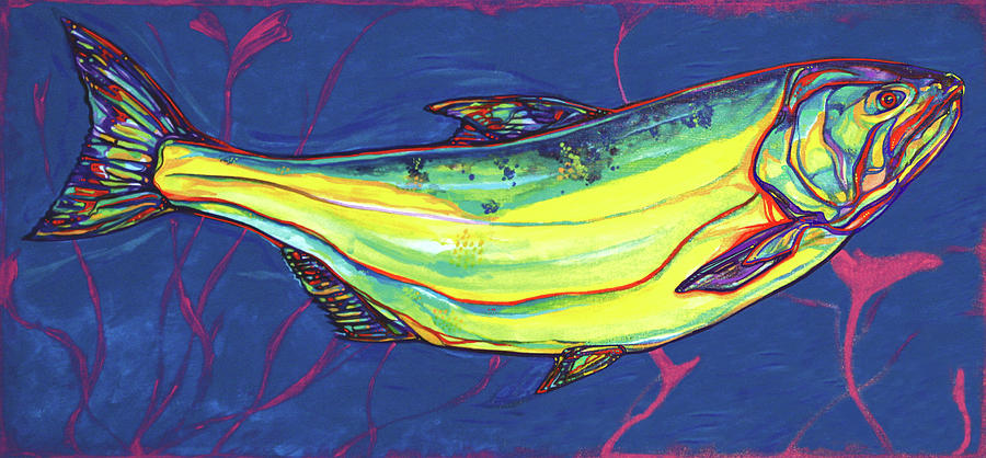 Salmon Of Knowledge Painting