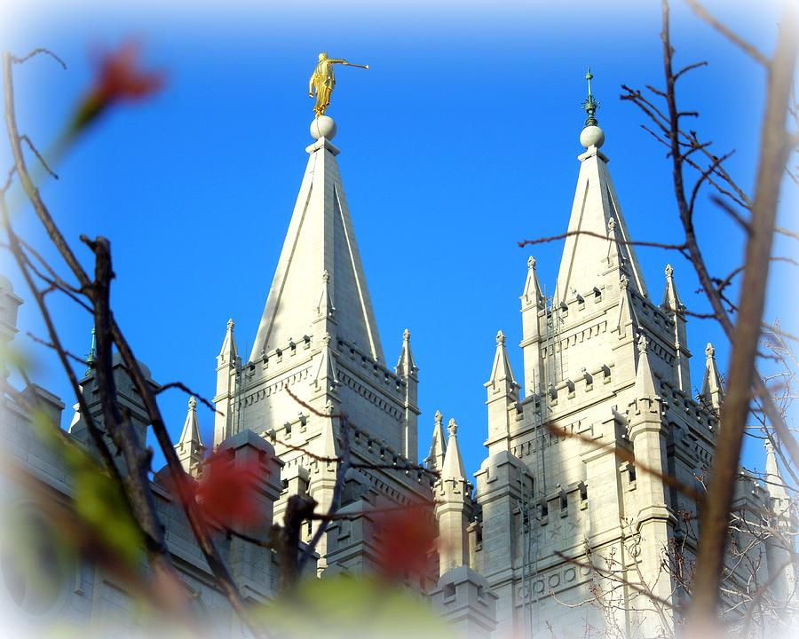 Salt Lake Temple Top Photograph