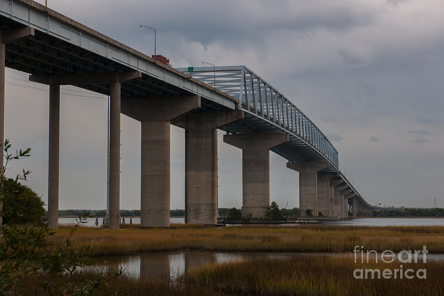 Salt Marsh Under Don Holt Bridge Photograph
