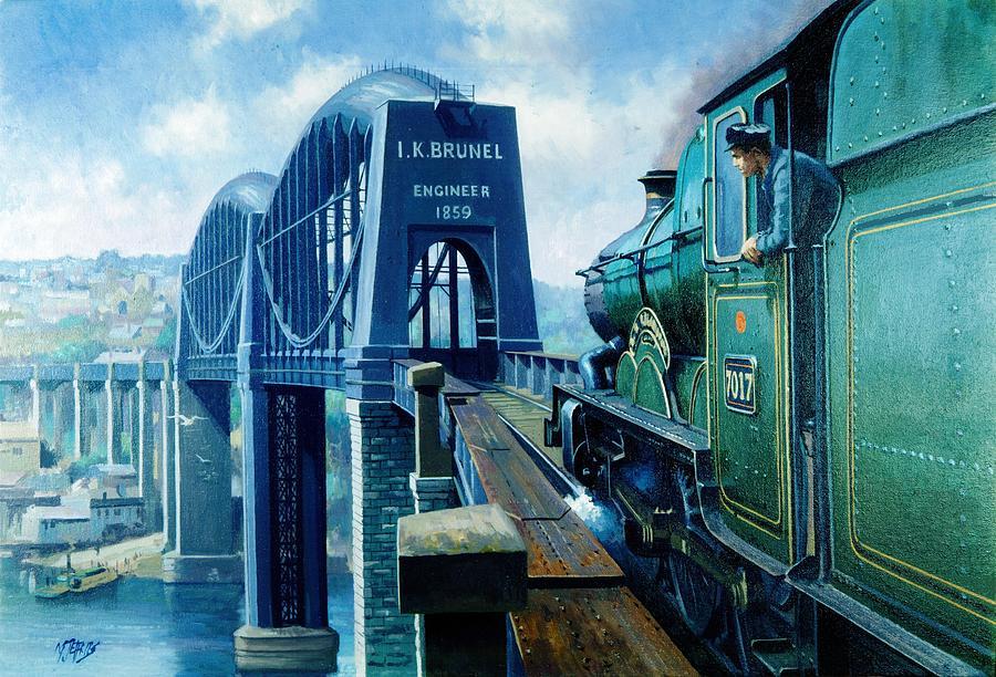 Saltash Bridge. Painting