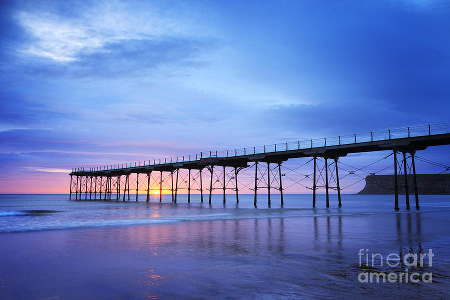 Saltburn Pier At Dawn Photograph  - Saltburn Pier At Dawn Fine Art Print