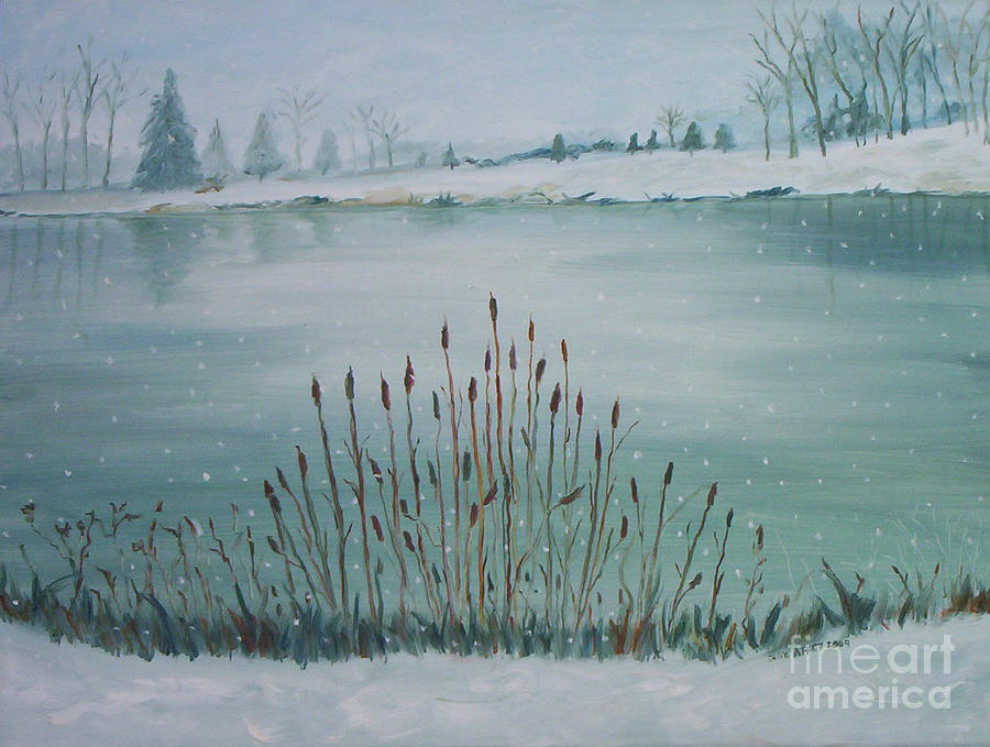 Saltville Pond Painting