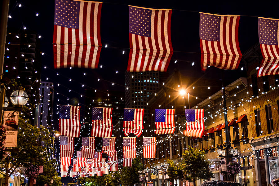 4th Of July Photograph - Salute To Old Glory by Teri Virbickis