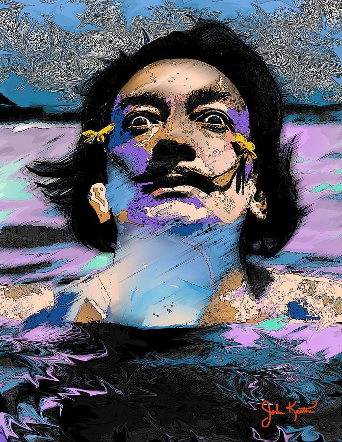 Salvador Dali Digital Art - Salvador Dali by John Keaton