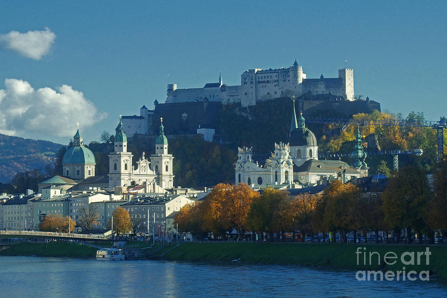 Salzburg Austria In Fall Photograph