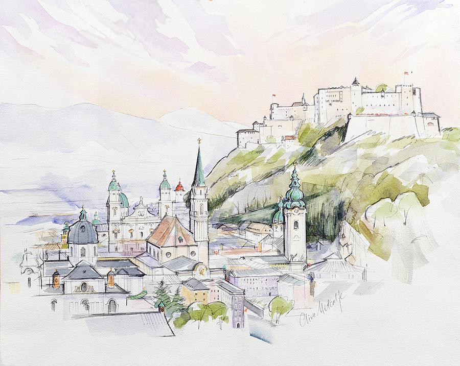 Salzburg Sunrise  Painting
