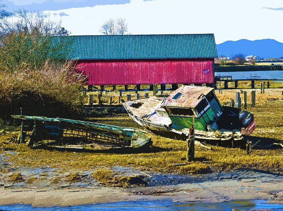 Samish Island Abandoned Boat Photograph